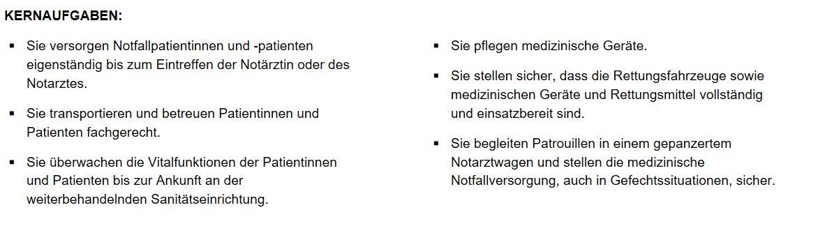 karriere als notfallsanitter mw im sanittsdienst der bundeswehr - Bewerbung Notfallsanitater